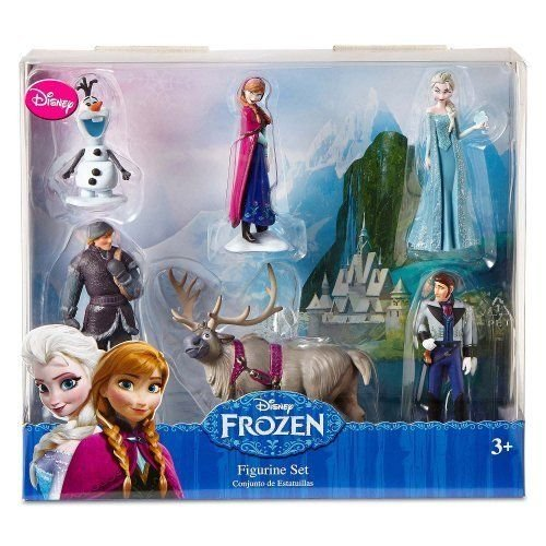 Disney Frozen 6 pc Figurine Figure Set Sven, Hans, Anna, Elsa, Kristoff and Olaf おもちゃ