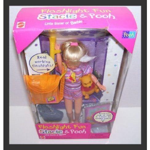 Flashlight Fun Stacie Barbie(バービー)'s Sister & Winnie the Pooh ドール 人形 フィギュア