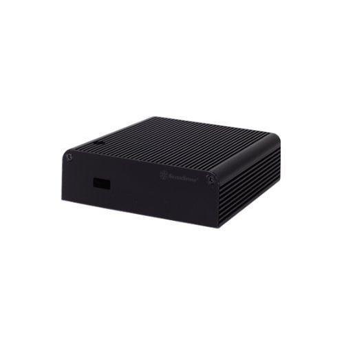 銀stone Tek Aluminum NUC Case with Top Cover Heat-Pipe 1x HDMI Port and 1x Thunderbolt Port -