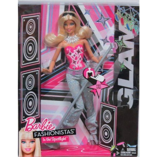 Barbie バービー Fashionistas In The Spotlight Glam Singing Doll 人形 ドール