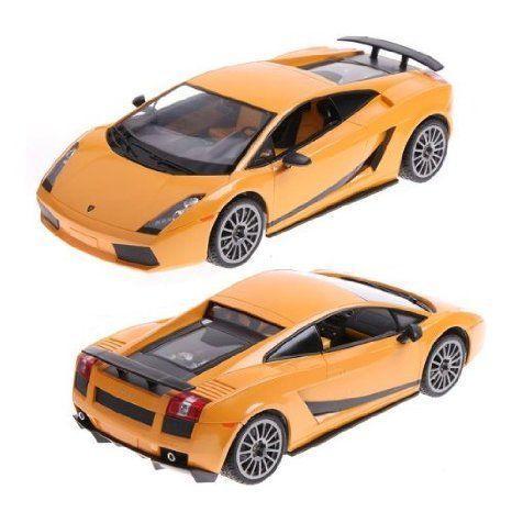 黄 Rastar 1:14 Lamborghini Gallardo Car Model with Remote Control おもちゃ