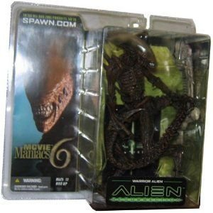 McFarlane Toys ムービー Maniacs シリーズ 6 Alien and P赤ator Action フィギュア Warrior Alien