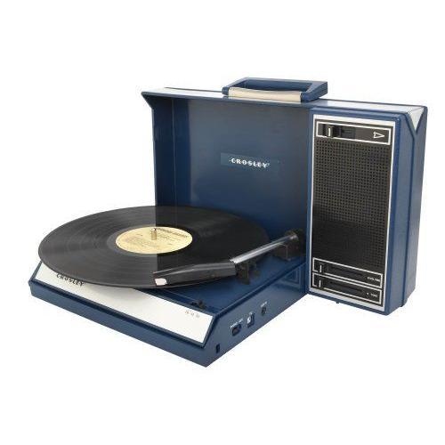 Crosley Spinnerette Portable Turntable ポータブル ターンテーブル  (ブルー)