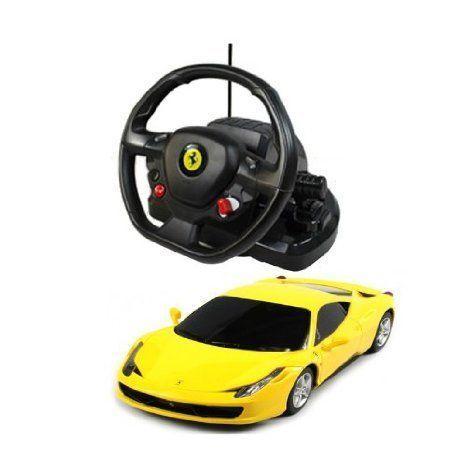 1:18 Scale Ferrari 458 Italia Model ラジコンカー With Steering controller (COLOR: 黄) おもちゃ