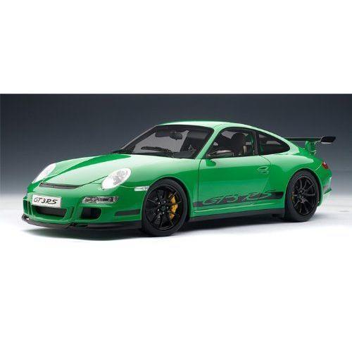 ダイキャストカー ポルシェ 911(997) GT3 RS グリーン/ブラック 1/12