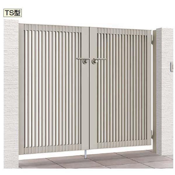 門扉 プレスタ 門扉 TS型 07-12 両開き 門柱タイプ LIXIL アルミ 縦格子 門扉