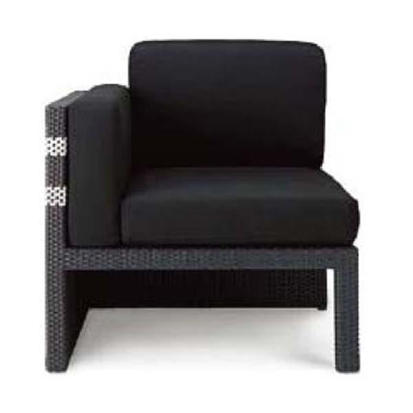 ガーデンファニチャー ソファラタン(R) A11 色:ブラック テラス や ガーデンルーム に コンポーネント ソファセット