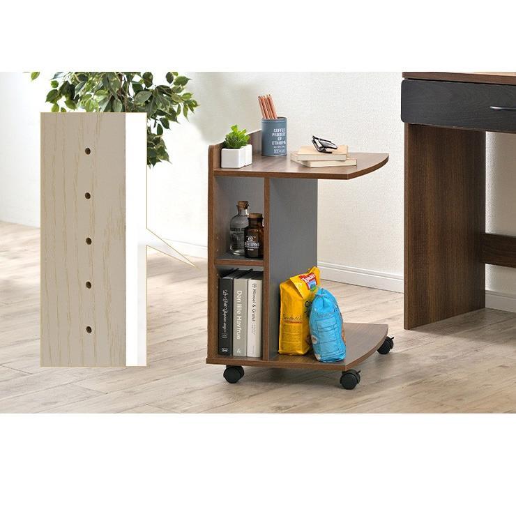 テーブル ナイトテーブル サイドチェスト カフェテーブル ベッド ソファ キャスター付き マガジンラック ミニデスク サイドテーブル Olive(オリーブ) 3色対応|wakuwaku-land|11