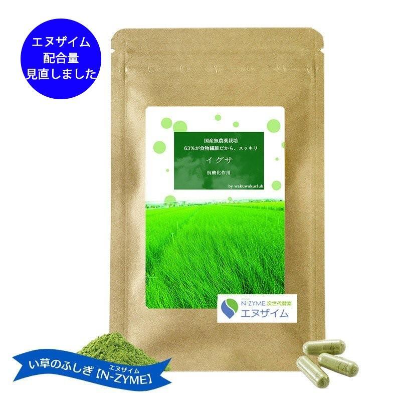サプリメント 酵素(エヌザイム )+い草 N-ZYME 送料無料 約7日分|wakuwakukenkouclub