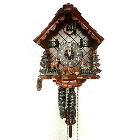 からくり時計 バンビとウサギ ドイツ製鳩時計 本物の鳩時計
