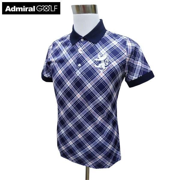 ADMIRAL アドミラル ゴルフウェア 春夏 メンズウエア ポロシャツ ADMA922NVY(30) M:SSM483 L:SSM484
