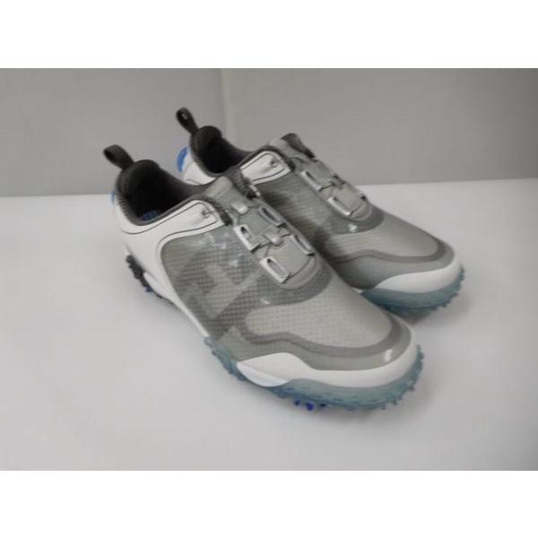 ゴルフ シューズ 靴 メンズ 男性用 フットジョイ Footjoy フリースタイル 57337J ホワイト×グレー SU022