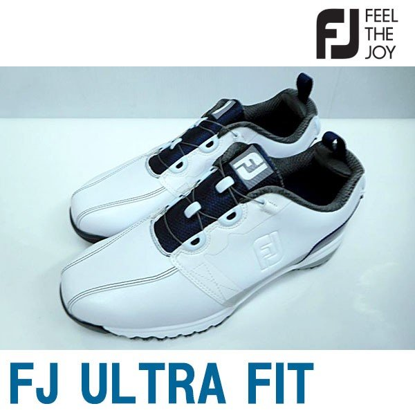 Footjoy フットジョイ 男性用 メンズ ゴルフ シューズ FJ ULTRA FIT ウルトラフィット #54141 ホワイト+ネイビーSU072