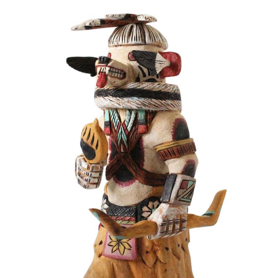 ネイティブアメリカン / ホピ族 / カチーナ / カチナドール / 白い Bear Medicine Man (KC3)
