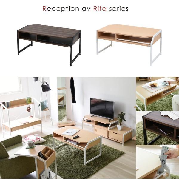 テーブル ローテーブル Rita 北欧風センターテーブル 北欧 テイスト おしゃれ 木製 スチール ホワイト ブラック|wamono|02