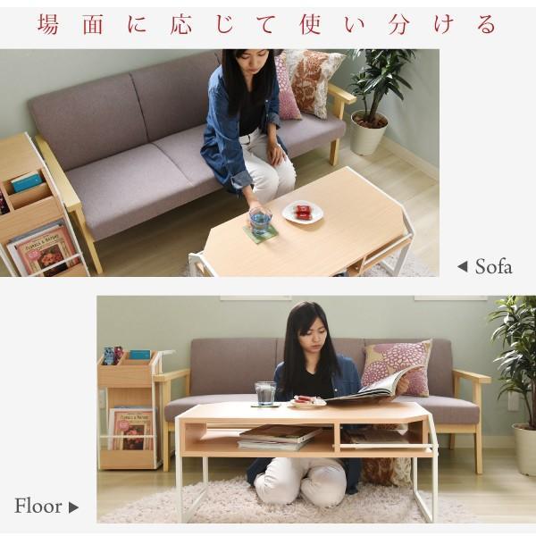 テーブル ローテーブル Rita 北欧風センターテーブル 北欧 テイスト おしゃれ 木製 スチール ホワイト ブラック|wamono|03