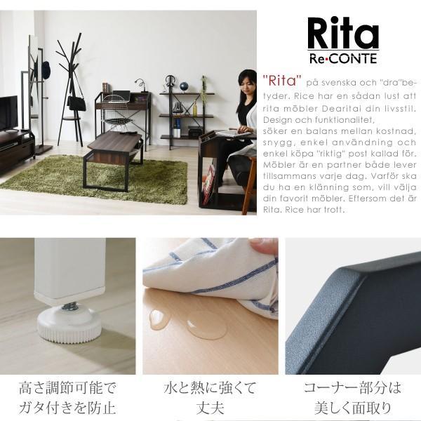 テーブル ローテーブル Rita 北欧風センターテーブル 北欧 テイスト おしゃれ 木製 スチール ホワイト ブラック|wamono|05