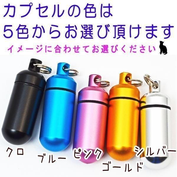 ペット仏具 遺骨カプセルキーホルダー カプセル大 アルミ製カプセル 5色から選べる 刻印なし wan-nyan-memory 04