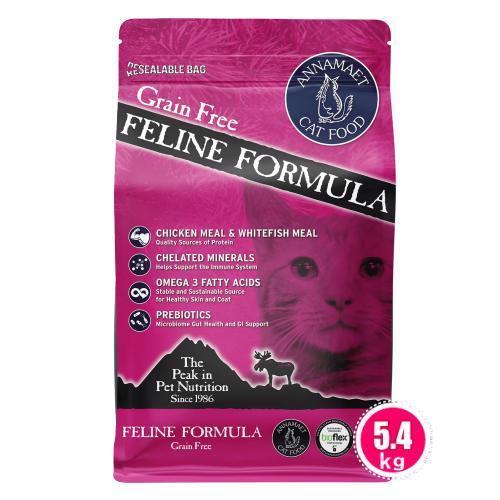 アナメイト グレインフリーキャットフード フィーライン 12ポンド(5.4kg)|wan-nyan-olive