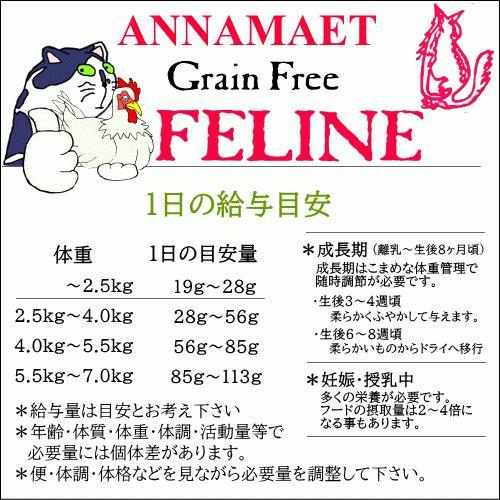 アナメイト グレインフリーキャットフード フィーライン 12ポンド(5.4kg)|wan-nyan-olive|09
