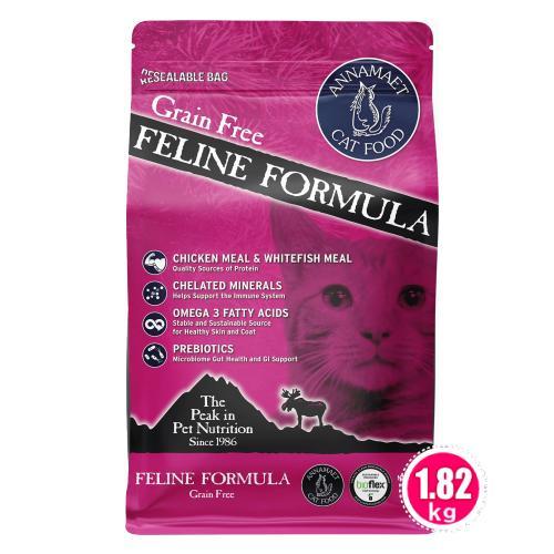 アナメイト グレインフリーキャットフード フィーライン 4ポンド(1.82kg)|wan-nyan-olive