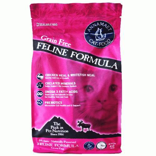 アナメイト グレインフリーキャットフード フィーライン 4ポンド(1.82kg)|wan-nyan-olive|02