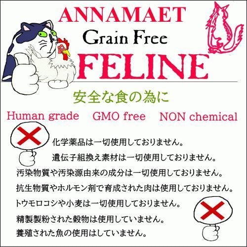 アナメイト グレインフリーキャットフード フィーライン 4ポンド(1.82kg)|wan-nyan-olive|10