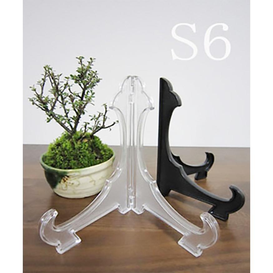 皿立て  飾りスタンド  額立て S6皿たて (直径21cm〜29cm程度の皿向け)インテリア 日本製 透明|wanizou|07