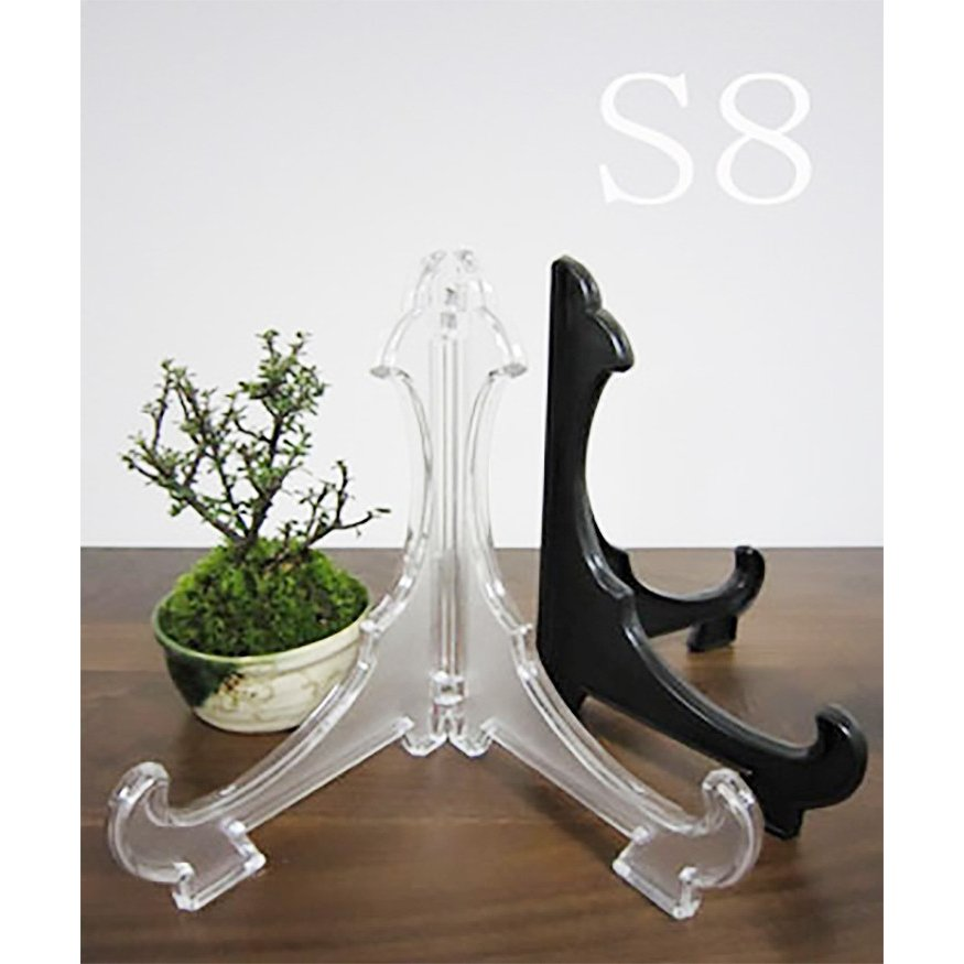 皿立て スタンド S8皿たて 黒 直径28cm〜37cm程度のお皿向け 額立て シンプル 日本製|wanizou|07