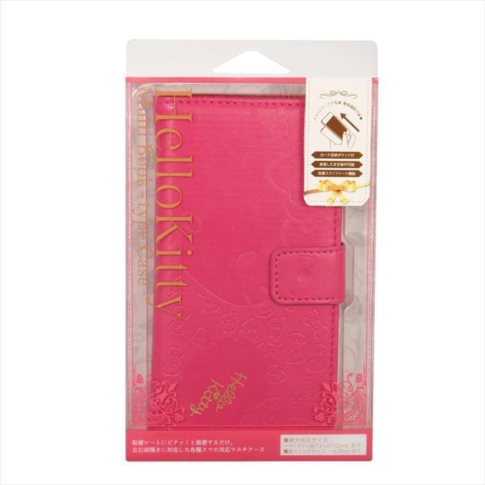 221802712f キティ 汎用キティ大 M-KT03 | スマホケース ケース 手帳型 スマホ 手帳 ...