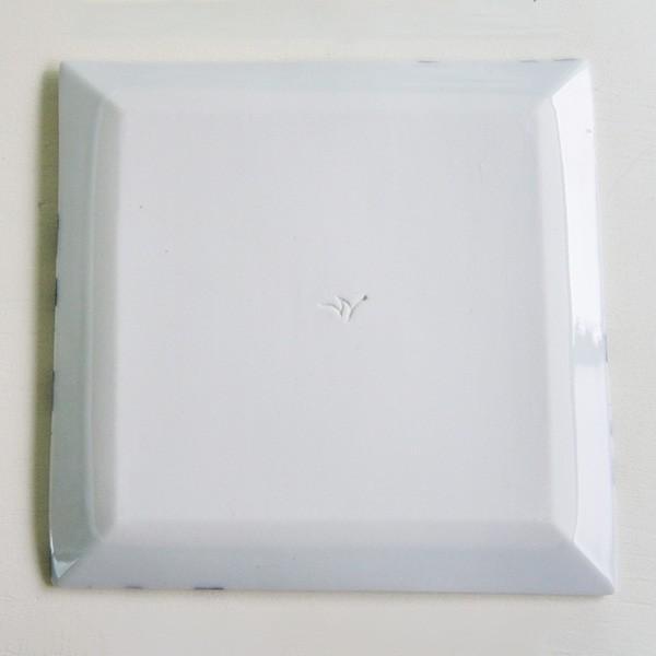 砥部焼 おしゃれ 【スクエアプレート M】 中皿 角皿 取皿 小物入れ 窯元 和将窯 Washo-019|wapal|05