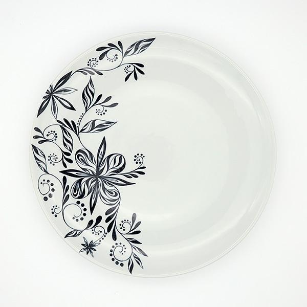 [一点物] 砥部焼 おしゃれ 【HANA -花-】 お皿 平皿 プレート 窯元 和将窯 Washo-702 wapal 04