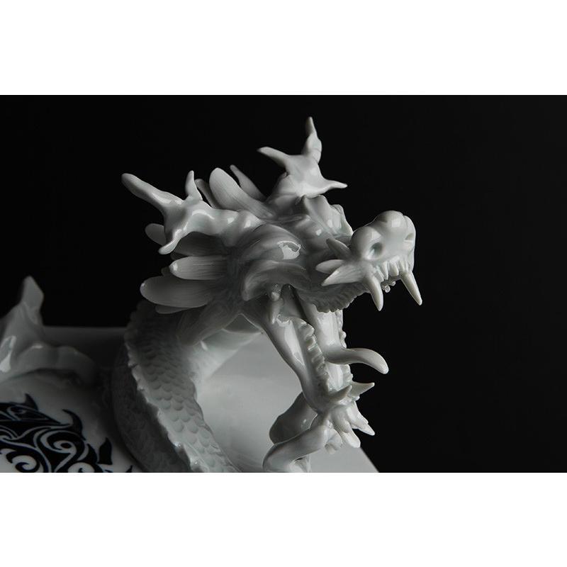 砥部焼 おしゃれ 【ドラゴンプレート】 龍 シェンロン 置物 オブジェ 窯元 和将窯 ブランコネグロ Washo-910|wapal|06