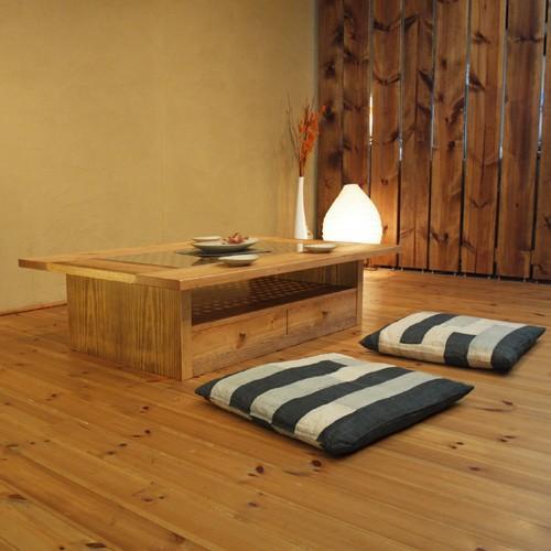 ローテーブル ソファーテーブル センターテーブル 座卓 和モダン アジアン アンティーク 格子 木製 天然木 送料無料
