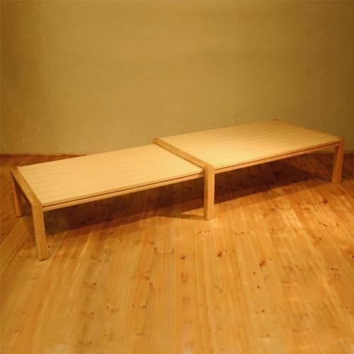 ローテーブル スクロール 1200-ho/ローテーブル/リビングテーブル/伸縮式/エクステンション/伸長式/拡張式/オーク材/ナラ材