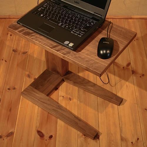 ソファーサイドテーブル サイドテーブル ティーテーブル パソコンデスク ウォールナット材 和モダン 北欧 PCデスク 小さい 木製 天然木 送料無料