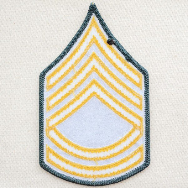 ミリタリーワッペン U.S.Army アーミー アメリカ陸軍1等軍曹階級章 ...