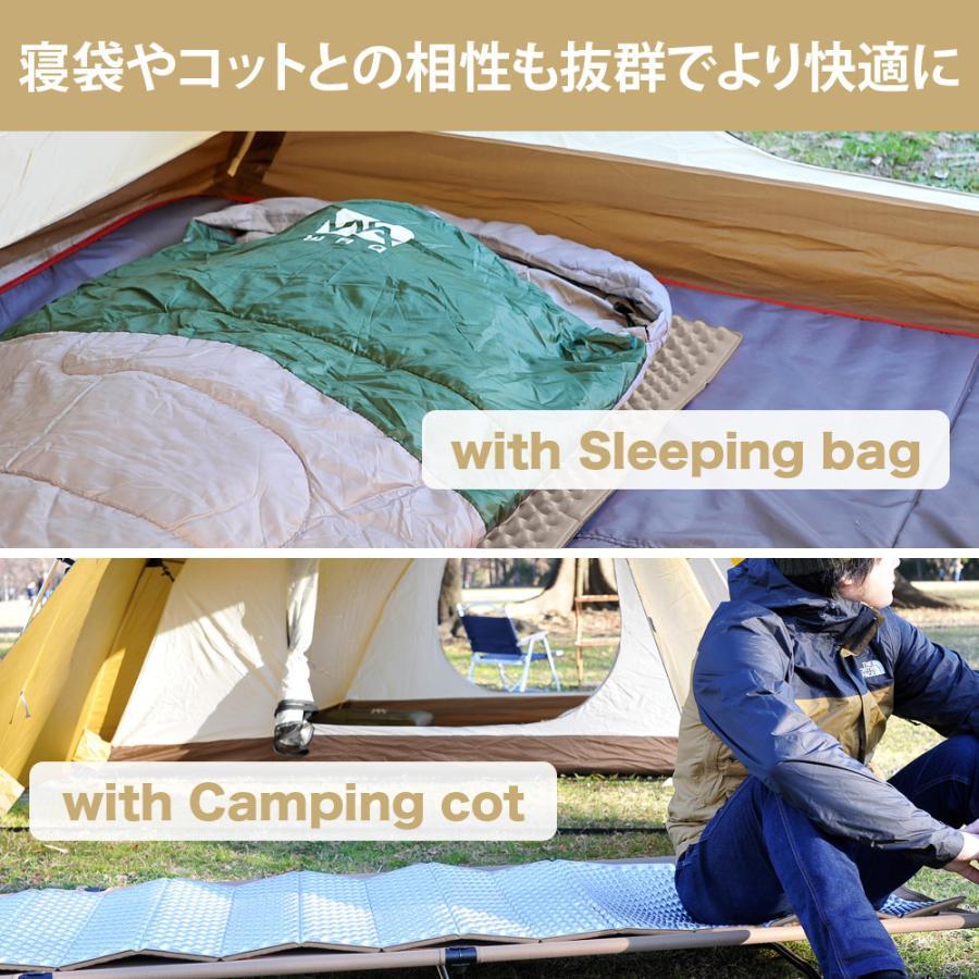 【1年保証】WAQ キャンプマット レジャーマット 極厚 18mm 暖かい アルミ加工 ひとり用 4人対応 折りたたみ 軽量 コンパクト アウトドア|waqoutdoor|09