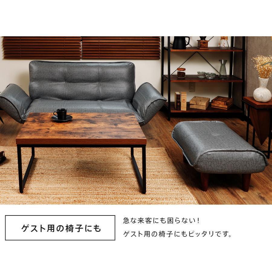 オットマン 合皮 PVC コーデユロイ おしゃれ 脚置き カラー 脚置き 和楽 WARAKU 「KAN ヴィンテージ」 a281 スツール 日本製 一人暮らし サイドテーブル 2021|waraku-neiro|08