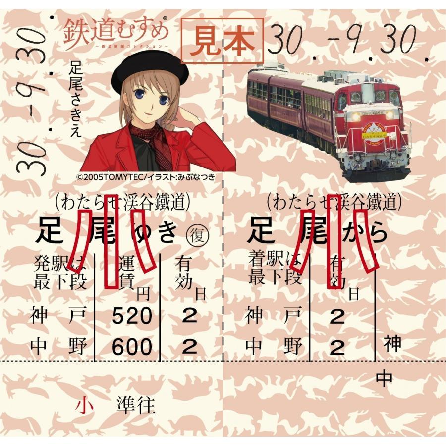 上州鉄道3むすめ記念乗車セット(わたらせ渓谷鐵道版)|watarase|03
