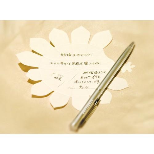 メッセージカード おしゃれ 花束 引っ越し 退職 卒業 色紙 寄せ書き 花 プチブーケ お祝い お誕生日 結婚 お見舞い Hana-kotoba Kit 10名 メール便対応|watashi-s|03