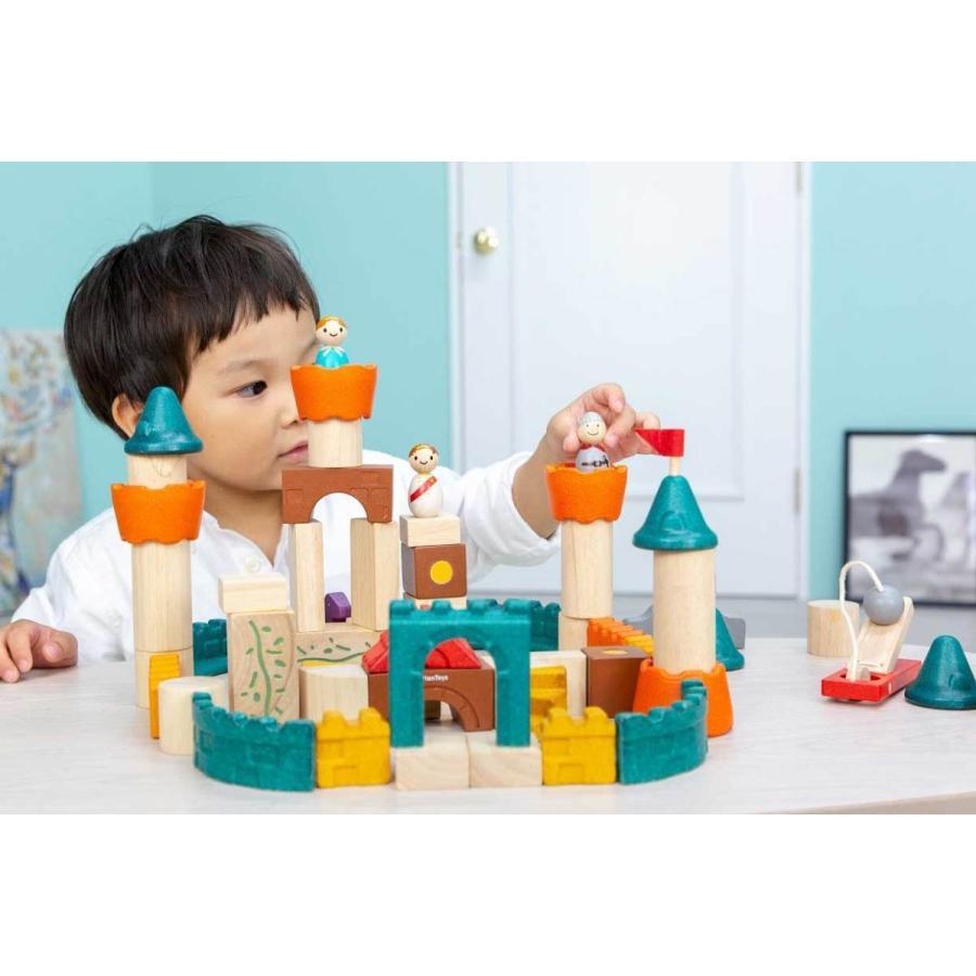 木のおもちゃ 知育 おもちゃ 3歳 4歳 積み木 おしゃれ 誕生日 プレゼント 幼児 子供 お祝い ブロック 木製 かわいい 海外 ファンタジーブロック プラントイ watashi-s 05