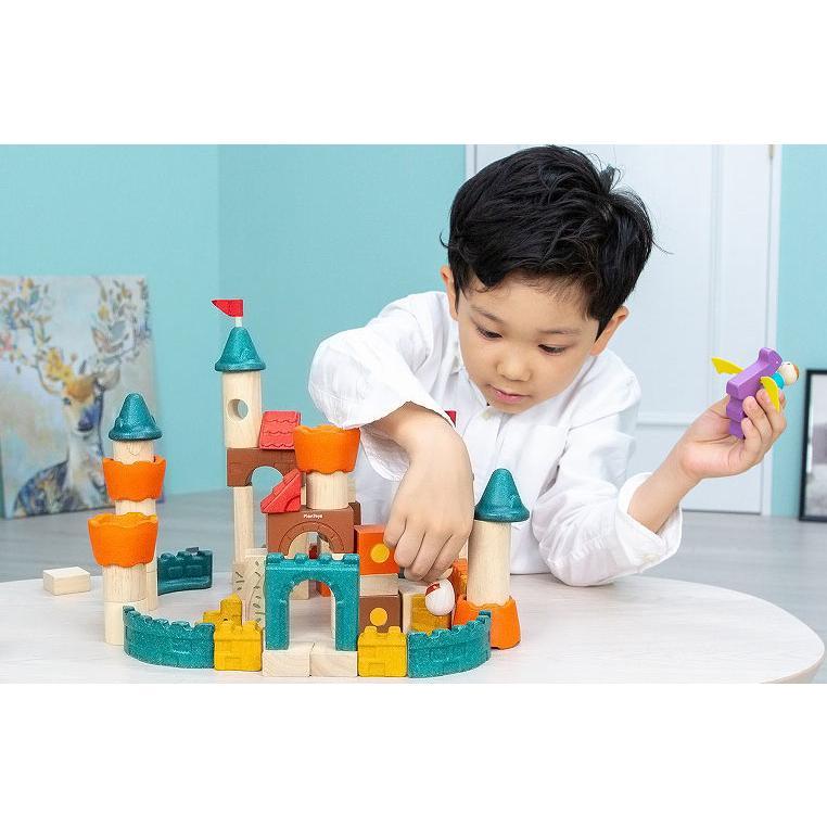 木のおもちゃ 知育 おもちゃ 3歳 4歳 積み木 おしゃれ 誕生日 プレゼント 幼児 子供 お祝い ブロック 木製 かわいい 海外 ファンタジーブロック プラントイ watashi-s 06