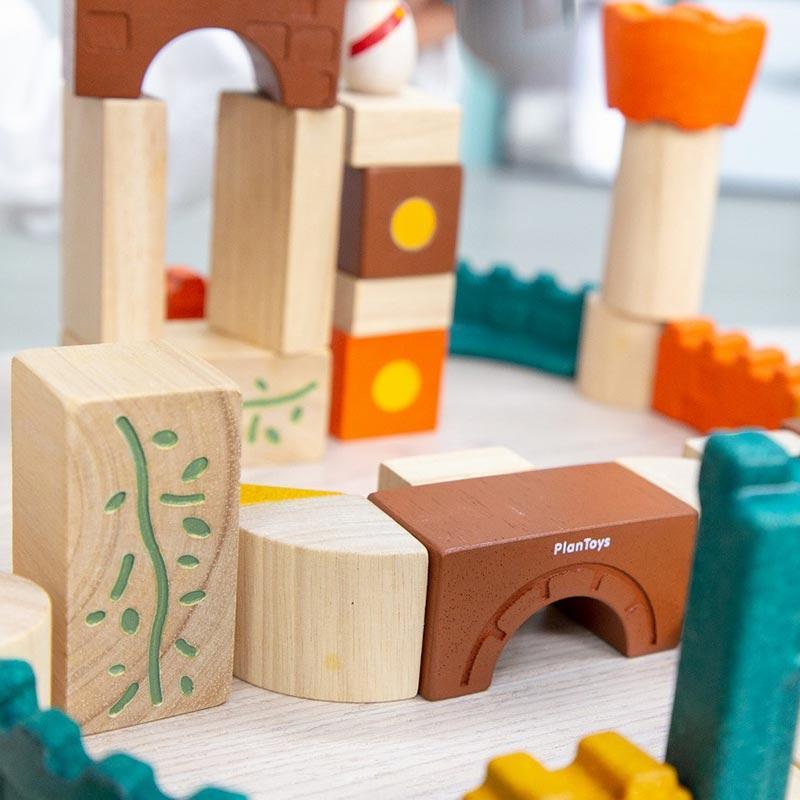 木のおもちゃ 知育 おもちゃ 3歳 4歳 積み木 おしゃれ 誕生日 プレゼント 幼児 子供 お祝い ブロック 木製 かわいい 海外 ファンタジーブロック プラントイ watashi-s 07
