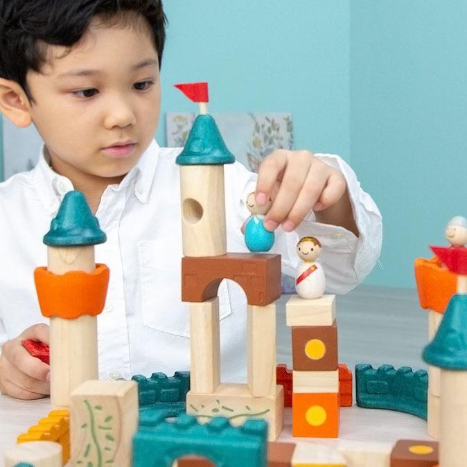木のおもちゃ 知育 おもちゃ 3歳 4歳 積み木 おしゃれ 誕生日 プレゼント 幼児 子供 お祝い ブロック 木製 かわいい 海外 ファンタジーブロック プラントイ watashi-s 08