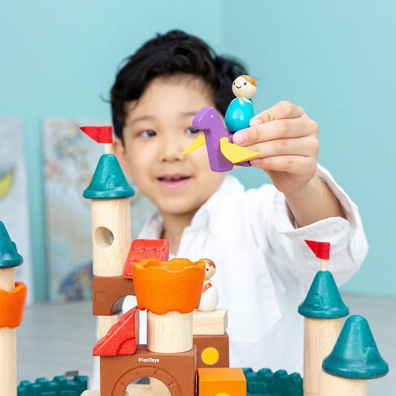 木のおもちゃ 知育 おもちゃ 3歳 4歳 積み木 おしゃれ 誕生日 プレゼント 幼児 子供 お祝い ブロック 木製 かわいい 海外 ファンタジーブロック プラントイ watashi-s 09