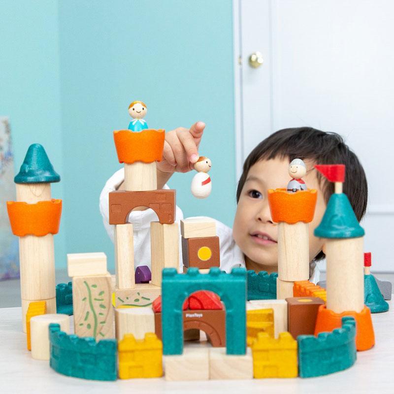 木のおもちゃ 知育 おもちゃ 3歳 4歳 積み木 おしゃれ 誕生日 プレゼント 幼児 子供 お祝い ブロック 木製 かわいい 海外 ファンタジーブロック プラントイ watashi-s 10