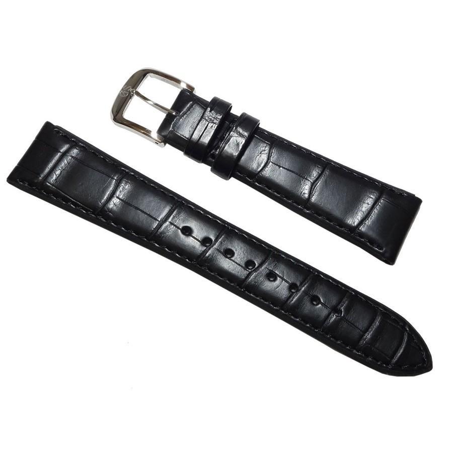 時計用 ベルト 19mm セイコー SEIKO グランドセイコー尾錠付 DEL3 クロコダイル 黒  正規品|watch-moonf