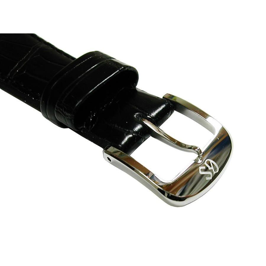 時計用 ベルト 19mm セイコー SEIKO グランドセイコー尾錠付 DEL3 クロコダイル 黒  正規品|watch-moonf|03