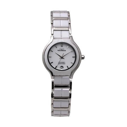 欲しいの TECHNOS セラミック/テクノス T9843TW ホワイト 腕時計 サファイアガラス セラミック サファイアガラス レディース 正規品 レディース 新品, オオトウマチ:2b733818 --- airmodconsu.dominiotemporario.com